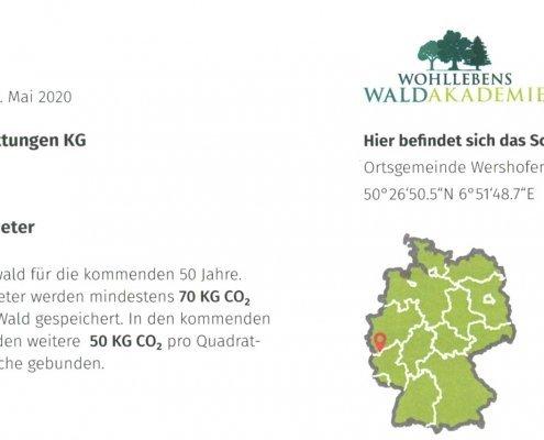 Urkunde Wiese schützt den Buchenwald